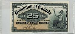 Canada 1900 Dominion Of Canada 25 Cent - Shinplaster - Out Of Register - Unc -
