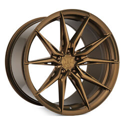 20 Rohana Rfx13 Bronze 20x9 20x10 Forged Concave Wheels Rims Fits Ford Mustang