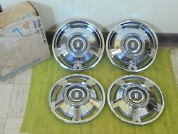 Nos 1966 Chevrolet Hub Caps 13 Set Of 4 Chevy Ii Wheel Covers 66 Nova Hubcaps