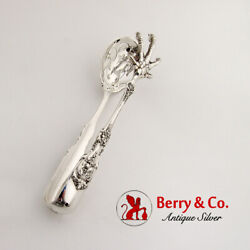 Francis I Large Ice Tongs Reed Barton Sterling Silver Mono
