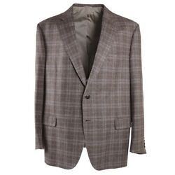 Nwt 4995 Brioni 'colosseo' Wool-cashmere Sport Coat 48 R Suede Elbow Patches