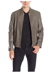 John Varvatos $1698 NWT Men's Size 50 UK 40 US Leather Jacket Sage Brush#1000-A1