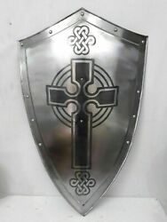 Medieval Hand Forged Steel Layered Medieval Shield SCA Battle Shield Armor