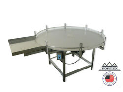 Fortex Stainless Steel 60 Accumulating Rotary Table With Infeed Table