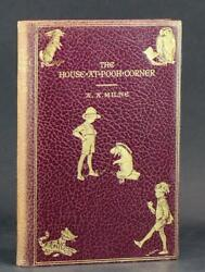 A A Milne 1st Edition Fine Leather 1928 Winnie The Pooh The House At Pooh Corner