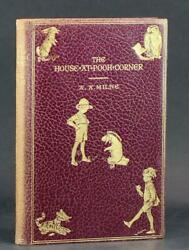 A Milne 1st Edition Fin Cuir 1928 Winnie Land039ourson The House At Pooh Corner