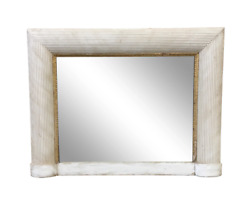 Mid-century Modern Painted Mirror With Gilt Accents