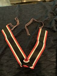 German Ww2 Knights Cross To The Wat Service Cross Ribbon With Original Ties Only