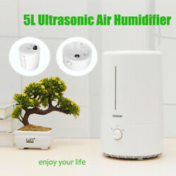 220V 25W Quiet Ultrasonic Humidifier 5L Water Tank Home Air Purifying Mist Maker