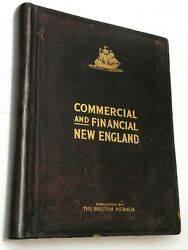 1906 Commercial And Financial New England The Boston Herald Leather Vg+ Nice