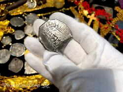 Mexico 8 Reales 1714 Dated W/ Real 8 Co Coa Fleet Shipwreck Pirate Gold Coins