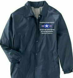 Altus Air Force Base Oklahomausaf Coaches Embroidered Lightweight Jacket