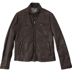 Nwt 6400 Cesare Attolini Flannel-lined Leather Bomber Jacket M Eu 50