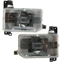 Headlight Lamp Left-and-right For Hardbody Truck Lh And Rh Ni2503104, Ni2502104