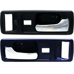 Interior Door Handle For 90-93 Honda Accord Front Left And Right Set Of 2 Blue