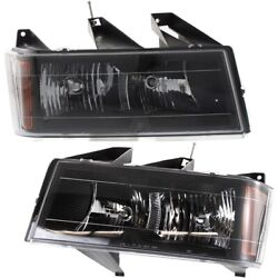 Headlight Lamp Left-and-right For Chevy Gm2503234c Gm2502234c Lh And Rh Colorado
