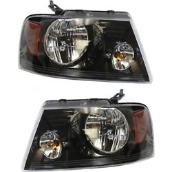 Fo2503247c, Fo2502247c Headlight Lamp Left-and-right For F150 Truck Lh And Rh Ford