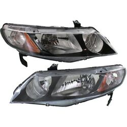 Headlight Lamp Left-and-right Ho2503127 Ho2502127 33101snca01 33151snca01