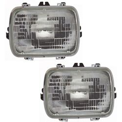 Headlight Lamp Left-and-right For Chevy Suburban Sealed Beam Gm2500112 25949657