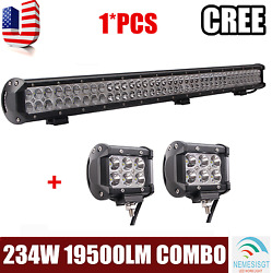 36inch 234w Offroad Led Work Light Bar Combo Truck Ute Suv W/ 2x 18w 4inch Pods