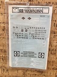Microscale Decal Ho Scale 87-261 Assorted Freight Cars Lv, Pfe, Santa Fe T-5