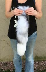 Stunning Crystal Fox Tails With Grommet And Chain Crystail