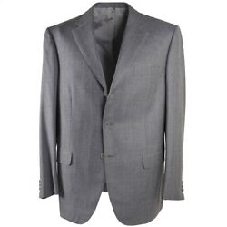 Nwt 6400 Brioni Gray Striped Soft Brushed Wool-cashmere-silk Suit 44 R