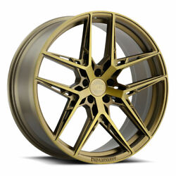 19 Xo Cairo Bronze 19x8.5 Forged Concave Wheels Rims Fits Acura Tl 04-08