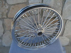 21x3.5 Fat 38 Spoke Dual Disc Front Wheel For Harley Flt Touring Baggers 2000-07