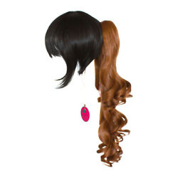 23'' Curly Pony Tail Clip Auburn Brown Cosplay Wig NEW