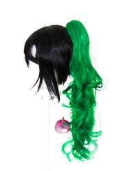 23'' Curly Pony Tail Clip Emerald Green Cosplay Wig NEW
