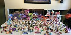 HUGE Lot Littlest Pet Shop 200+Pets RARE Dogs Cats OthersPlay setsAccessories