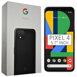 New 5.7 Google Pixel 4 G020m 2019 128gb Just Black Android Factory Unlocked Gsm
