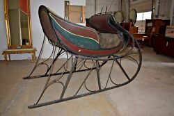 Antique Albany Cutter Sleigh By Donald Mckenzie Canada Horse Drawn Sled