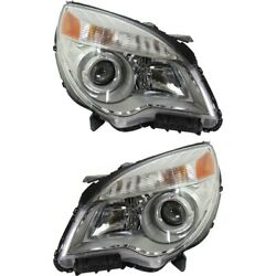 Headlight For 2010-2015 Chevrolet Equinox Driver And Passenger Side Pair