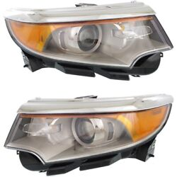 Bt4z13008h, Bt4z13008g Headlight Lamp Left-and-right Lh And Rh For Ford Edge 11-14