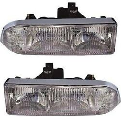 Gm2503172c, Gm2502172c Headlight Lamp Left-and-right For Chevy S10 Pickup Blazer