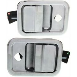 Set Of 2 Exterior Door Handles Front Left-and-right Lh And Rh For Cascadia Pair