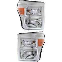 Headlight For 2011-2016 Ford F-350 Super Duty Left And Right Pair Capa