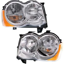 Headlight Lamp Left-and-right Ch2519131c Ch2518131c Lh And Rh For Grand Cherokee