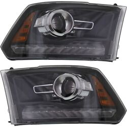 Headlight Lamp Left-and-right Ch2503245 Ch2502245 68093220ad 68093221ad