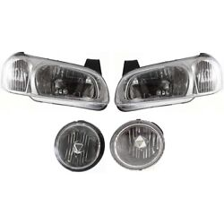 Headlights Lamps Set Of 4 Left-and-right Lh And Rh For Nissan Maxima 2000-2001