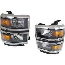 Headlight Lamp Left-and-right For Chevy Gm2502410c, Gm2503410c Lh And Rh Chevrolet