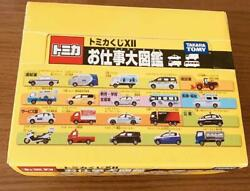Tomica Prize XII Job picture book 20pc all set Tomy mini car taxi police car etc