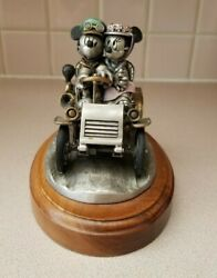 Mickey And Minnie Mouse Limited Edition Chilmark Sunday Drive Fine Pewter Statue