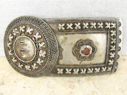 Russian Empire Caucasus Antique Filigree Silver One Part Of Buckle 112 Gr. 19th