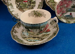 Johnson Brothers Friendly Village Eight Cup/saucer Set - Made In England