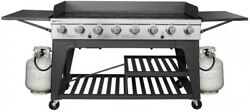 X Large Outdoor Grill Bbq 8 Burner Propane Gas 950 Sq In 2 Folding Side Tables