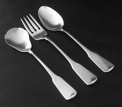 Oneida Cube American Colonial Heirloom Fork Soup Sugar Spoons Stainless Retired