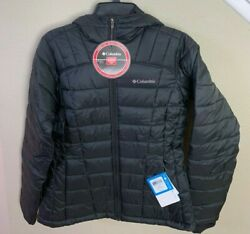 Columbia Womenand039s Pacific Postandtrade Hooded Jacket Color Black Size Small 180